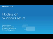 Introduction to Node.JS with Windows Azure