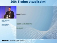 TechNet 2011 - Tietokantapalvelut osa 4: Tiedon visualisointi