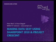 Making Data Sexy using SharePoint 2010 &amp; Project Crescent 