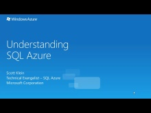 Understanding SQL Azure