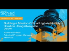 Building a Mission-Critical High Availability Solution Using AlwaysOn