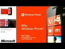 Dev01 - Windows Phone 7.5 Overview for Developers