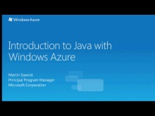 Introduction to Java with Windows Azure