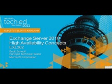 Exchange 2010 High Availability Concepts