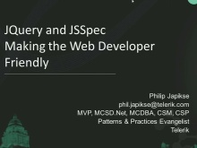 jQuery and JSSpec  Making the Web More Developer Friendly