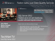 TechNet TV - SQL Server 2012 osa 2/3