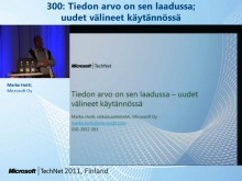 TechNet 2011 - Tietokantapalvelut osa 1: Tiedon arvo on sen laadussa