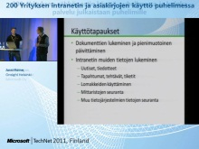 TechNet 2011 - Yrityspuhelin osa 3: Yrityksen intranetin ja asiakirjojen k&#228;ytt&#246; puhelimessa