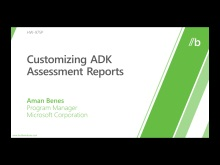 Customizing ADK assessment reports