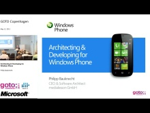 Architecting & Developing for Windows Phone