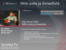TechNet TV - SQL Server 2012 osa 1/3