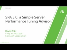 SPA 3.0  A simple server performance tuning advisor