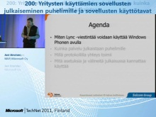 TechNet 2011 - Yrityspuhelin osa 5: Yrityksen pikaviestinn&#228;n k&#228;ytt&#246; puhelimessa