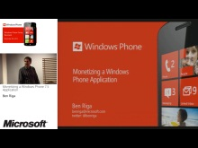 Dev07 - Monetizing a Windows Phone 7.5 Application