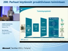 TechNet 2011 - Konesalipalvelut osa 2: Parhaat k&#228;yt&#228;nn&#246;t proaktiiviseen toimintaan