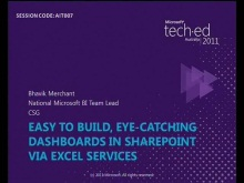 Easy to build, eye-catching dashboards in SharePoint via Excel Services