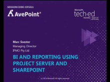 BI and Reporting using Project Server and SharePoint