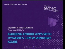 Building Hybrid Apps with Dynamics CRM &amp; Windows Azure