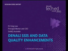 Denali SSIS and Data Quality Enhancements