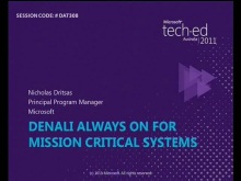Denali Always On for Mission Critical Systems