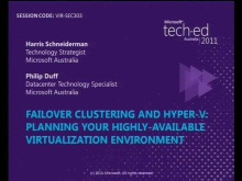 Failover Clustering and Hyper-V