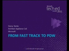 From Fast Track to Parallel Data Warehouse