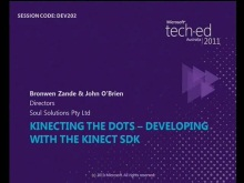 Kinecting The Dots  Developing with the Kinect SDK