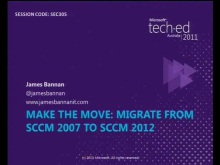 Make The Move: Migrate from SCCM 2007 to SCCM 2012