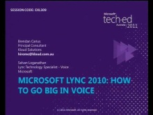 Microsoft Lync 2010: How to go big with voice
