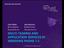 Multi-tasking and Application Services in Windows Phone 7.5