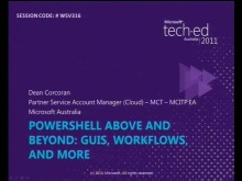 PowerShell Above and Beyond: GUIs, Workflows, and More