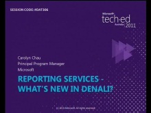 Reporting Services - What&#39;s New in Denali?