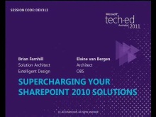 Supercharging your SharePoint 2010 Solutions