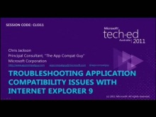 Troubleshooting Application Compatibility Issues with Windows IE 9