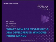 What's new for Windows Phone 7.5 Games Developers XNA and Silverlight