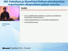 TechNet 2011 - Tietoty&#246; osa 2: Paikallisen ja SharePoint Onlinen yhteisk&#228;ytt&#246;