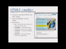 HTML5 Web Camp PM Sessions - Adding Audio and Video & Practical HTML5