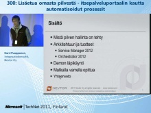 TechNet 2011 - Virtualisointi osa 5: Lis&#228;etua omasta pilvest&#228;