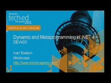 Dynamic and meta-programming in .NET 4