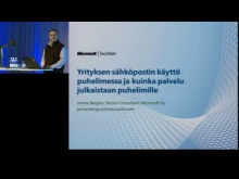 TechNet 2011 - Yrityspuhelin osa 2: Yrityksen s&#228;hk&#246;postin k&#228;ytt&#246; puhelimessa