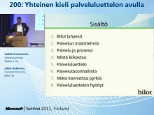 TechNet 2011 - Konesalipalvelut osa 4: Yhteinen kieli palveluluettelon avulla