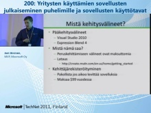 TechNet 2011 - Yrityspuhelin osa 4: Yritysten k&#228;ytt&#228;mien sovellusten julkaiseminen puhelimille