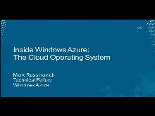 Inside Windows Azure, the Cloud Operating System with Mark Russinovich
