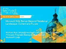 Microsoft SQL Server Beyond Relational Landscape: Current and Future