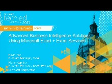 [May 2011] Advanced Business Intelligence Solutions Using Microsoft Excel + Excel Services