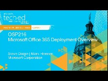 Microsoft Office 365: Deployment Overview