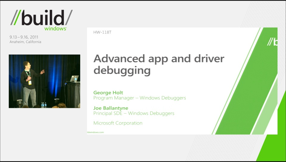 Advanced app and driver debugging